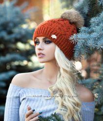 Классная зимняя шапочка с бубоном. Отправка каждый день