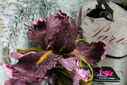 Цветы из ткани ирис Шопен