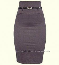 Миди юбка карандаш Papaya оттенка норки с высокой талией разм. М сост отл