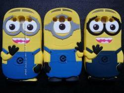 Силиконовый чехол миньон на Samsung Galaxy S3 i9300 и S3 Neo