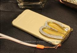 Cиликоновый зайчик складный уши со стразами для iPhone 66S