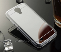 Зеркальный силиконовый чехол Samsung S4i-9500 три цвета