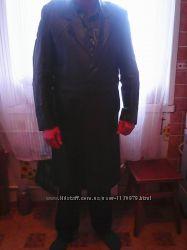 Кожаный мужской плащ в стиле Жеглова