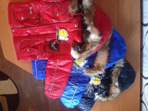 РАСПРОДАЖА Детские куртки на мальчика 3г холодная осень-тёплая зима