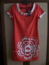 Новое красивое платье стрейч-лен на лето.