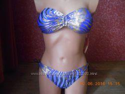 Яркий раздельный купальник бандо 44-48