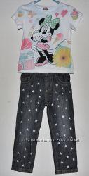 джинсы-узкачи скинни плюс футболка 4-6 лет