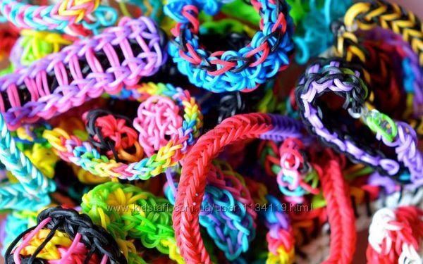 Резинки для плетения браслетов rainbow loom bands 2400 со станком