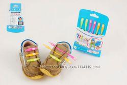 Силиконовые шнурки M-tie шнурочки для обуви неоновые