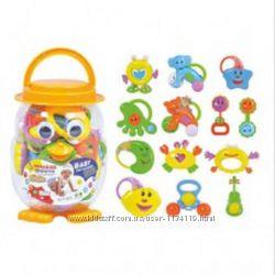 Набор погремушеки игрушки 13 шт. в колбе 23х15 см