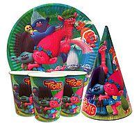 Праздничный набор для детского дня рождения Тролли
