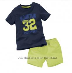 Летние комплекты шорты футболочка  , немецкий бренд Lupilu