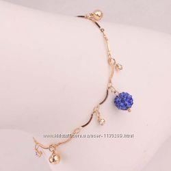 Чудесный, эротичный, модный браслет с цирконами, покр. золото 14К GF
