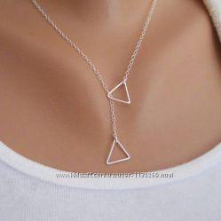 Элегантная, оригинальная, модная цепочка с подвесками, серебрение