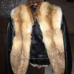 Куртка из натуральной кожи и меха лисы
