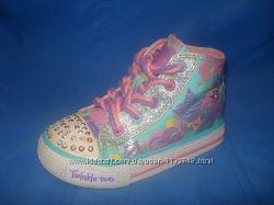 Кроссовки высокие кеды Skechers Twinkle Toes мигающие, светящиеся c06f13cad9b