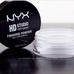 Бесцветная матирующая пудра - NYX HD Studio Photogenic Finishing Powder