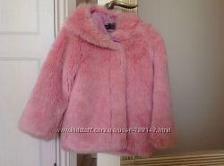 Красивая демисезонная шуба куртка для девочки Mothercare р. до 128 7-9 лет