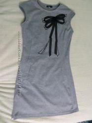 Платье серое OGGI, платье, платье в офис