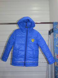 Курточки демисезонные для мальчиков синяя и коричневая