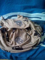 Модный шарф - палантин с черепами