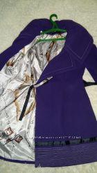 Фиолетовое кашемировое пальто. цену снизила