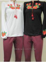 Женские вышиванки интерлок размеры 40-56