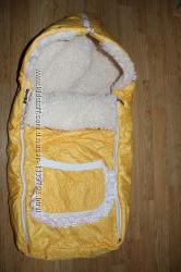 Зимний конверт для малыша на меху в коляску и санки