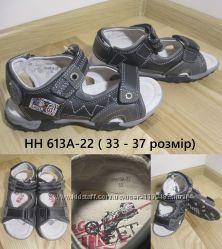 Босоножки на мальчика b&g HH613A-22 кожа, р. 33-37