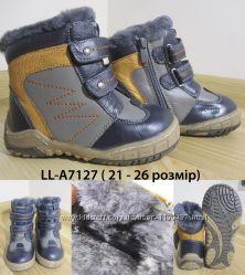 Ботинки зимние кожаные Lilin LL-A7127 с-о на натуральном меху, р. 21-26