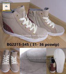 Кеди хайтопи демісезонні на дівчинку b&g BG2215-545 черевики,  р. 31-36