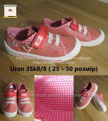 Кеди кросівки текстильні для дівчинки 3F Польща Uran 3Sk8-8,  р. 25-30 Кеды