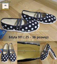 Балетки на дівчинку Zetpol Edyta 911 р. 25-36 Кеди Капці Тапочки Лодочки