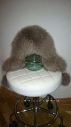 Супер теплая и стильная шапка песец натуральная кожа