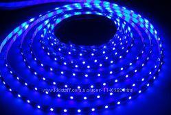 Лента светодиодная голубая синяя 1м 60дм IP33, IP65