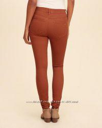 Стильные джеггинсы джинсы цвет терракотовый от denim co