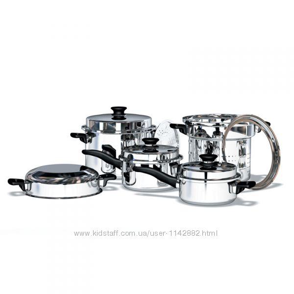 Расширенный набор посуды iCook кастрюли 2л, 3л, 8л с пароваркой от Amway