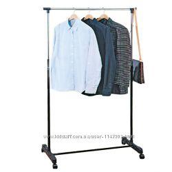 Тримач одягу одинарний. Стойка Вешалка для одежды на съемных колесах