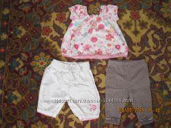 Нежный комплект-тройка для девочки Matalan Англия, 3-6 мес.