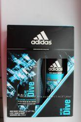Подарочный набор adidas ice dive спрей для тела и гель для шампун-душа