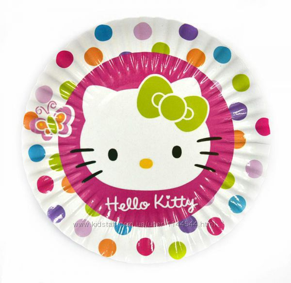 Одноразовая посуда и аксессуары с изображением Hello Kitty