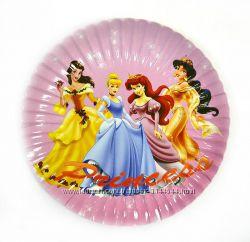 Одноразовая посуда и аксессуары с изображением Принцесс