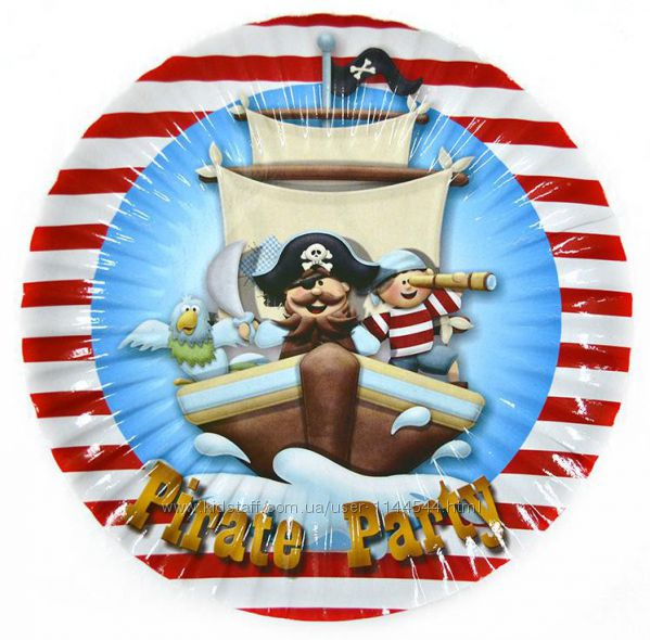 Одноразовая посуда и аксессуары с изображением Пиратов