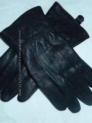 Новые кожаные перчатки на среднюю руку Мл, есть замеры