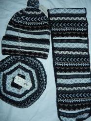 Стильный набор берет удлиненная шапка шарф, новый