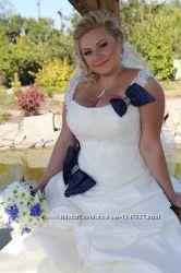 Свадебное платье для шикарной груди