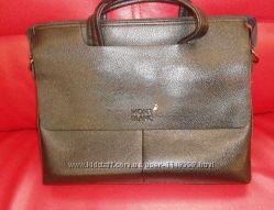 сумка мужская MONT BLANC, кожа, Италия