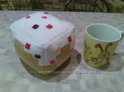 Игрушка тортик из игры minecraft