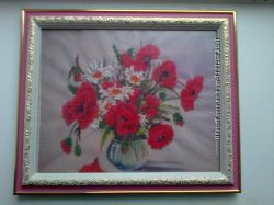 Картина вышитая бисером Весенний букет