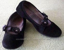 Замшевые туфли балетки для принцессы